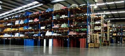 Reglin Rubber Factory Shelves & Inventory