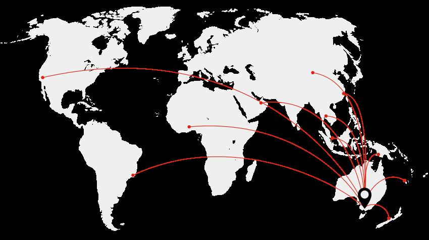 Reglin Rubber distribution map